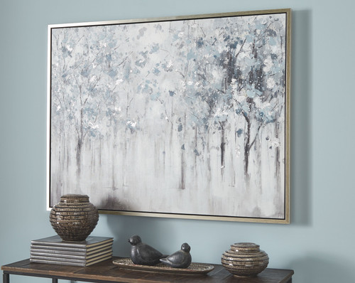 Breckin Blue/Gray/White Wall Art