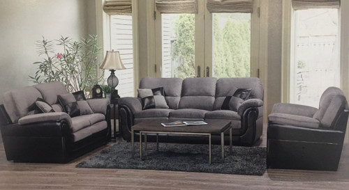-Made in Canada Fabric Two Tone  Sofa only  - On Sale