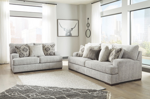 Mercado Pewter Sofa & Loveseat