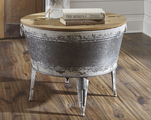 Shellmond Two-tone Accent Cocktail Table