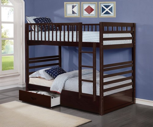 -Single / Single Bunk Bed with ladder & Drawers - On Sale