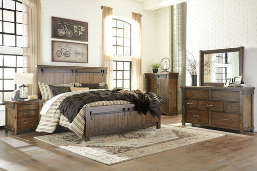Lakeleigh Brown 6 Pc. Dresser, Mirror, Chest & King Panel Bed