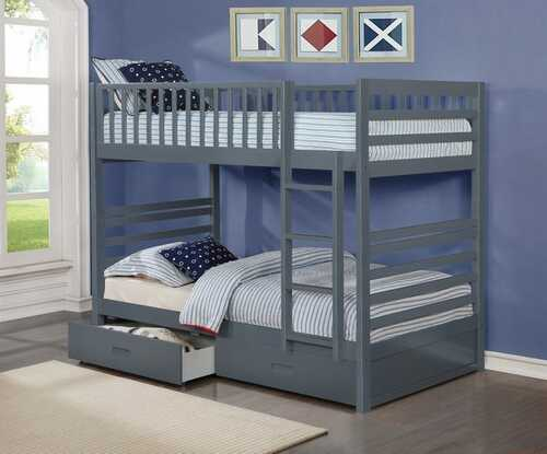 -Single / Single Bunk Bedwith ladder & Drawers  - On Sale