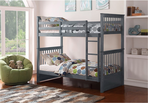 -Single / Single Bunk Bed with Ladder   - On Sale