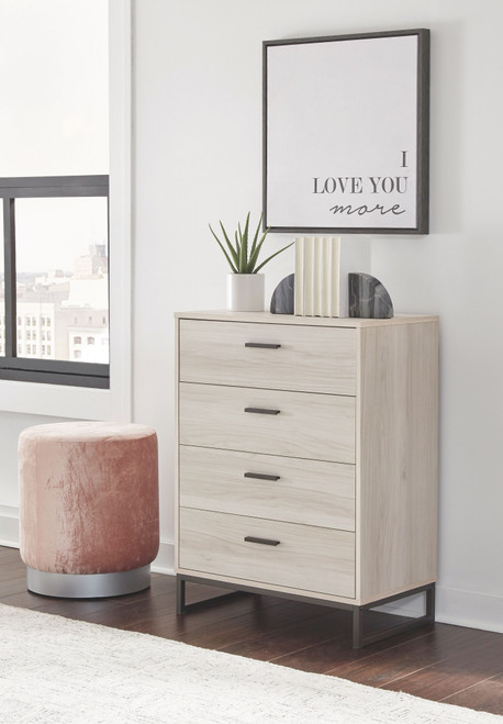 Socalle Natural Four Drawer Chest