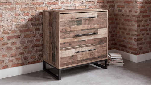 Neilsville Multi Gray Three Drawer Chest