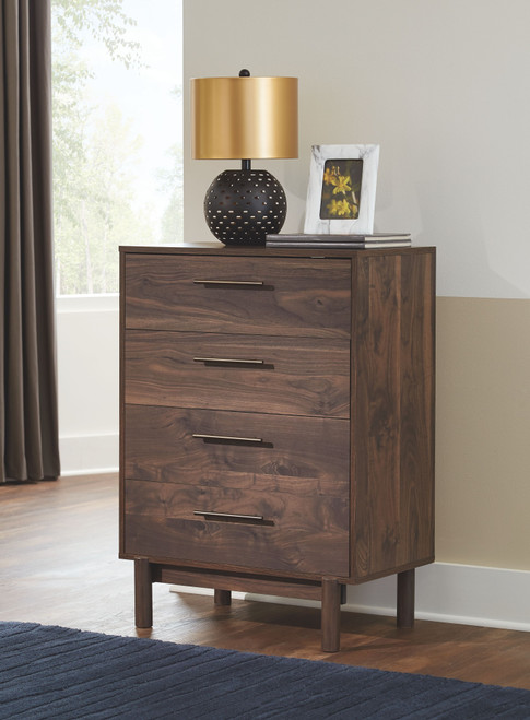 Calverson Mocha Four Drawer Chest