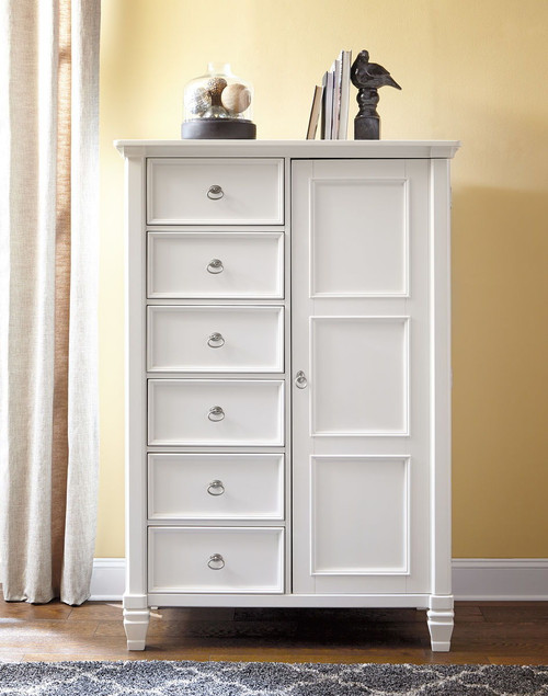Prentice White Door Chest