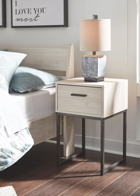 Socalle Natural One Drawer Night Stand