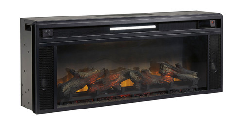 Entertainment Accessories Black Fireplace Insert