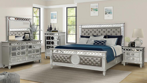 -Designer Tufted Headboard Queen Size Bed with the Glassed Design only