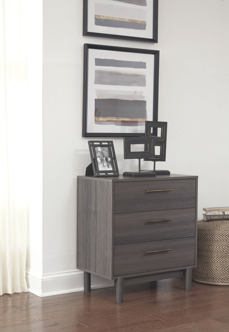 Brymont Dark Gray Three Drawer Chest