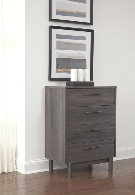 Brymont Dark Gray Four Drawer Chest