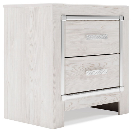 Altyra White Two Drawer Night Stand