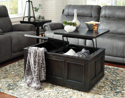-Ashley T752 Coffee Table with Lift Top