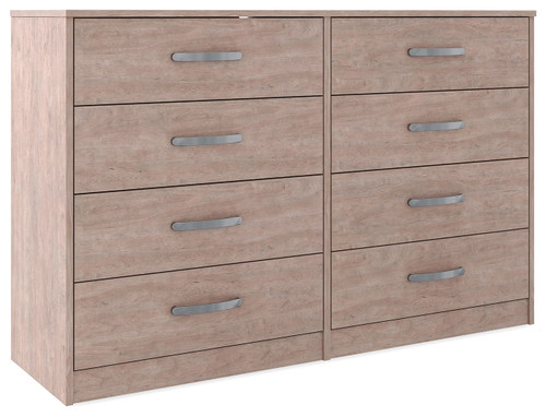 Flannia Gray Eight Drawer Dresser
