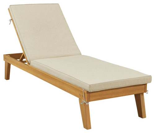 Byron Bay Light Brown Chaise Lounge with Cushion