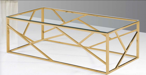 - Coffee Table With Gold Finish