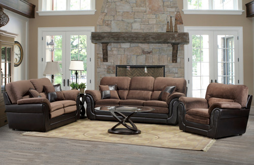 """- Made in Canada Brown """" Two-tone """" Sofa Only"""