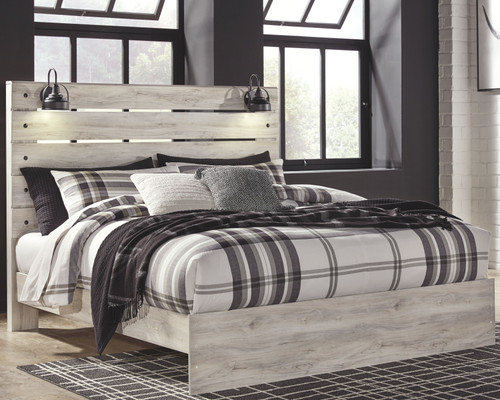 Cambeck Whitewash  King Panel Bed