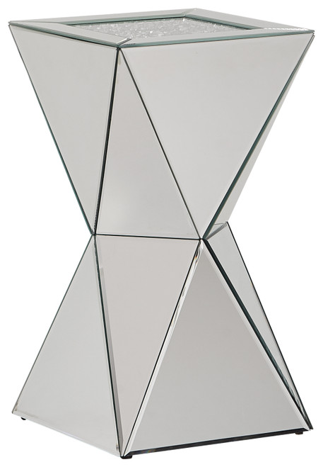 Gillrock Mirror/Silver Finish Accent Table