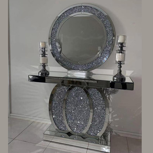 - Grand Crushed Mirrored Console T
