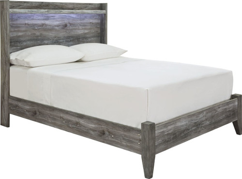 Baystorm Gray Full Panel Bed