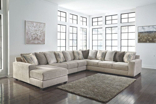 Ardsley Pewter LAF Corner Chaise, Armless Loveseat, Armless Chair, Wedge & RAF Sofa Sectional