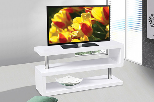 - Contemporary White  TV Stand  - On Sale