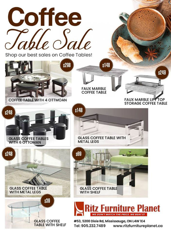 Coffee Table Sale!