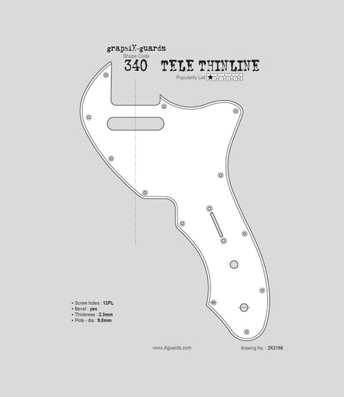 Tele Thinline 12Holes X340
