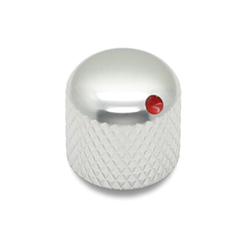 Aluminium Dome Knob with Allen Screw, Red dot paint
