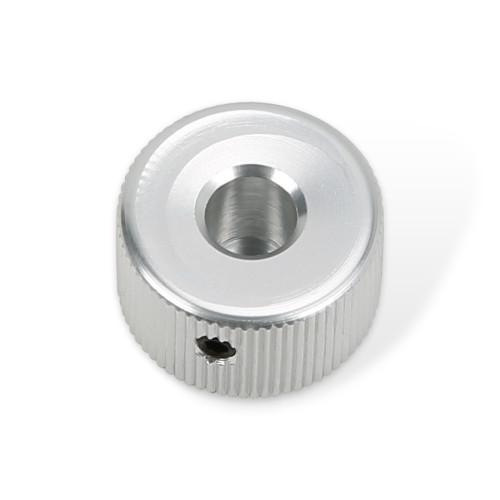 Burns Type Polished Aluminium Knob