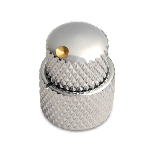 Half Dome Big Dot Dual Knob / Brass
