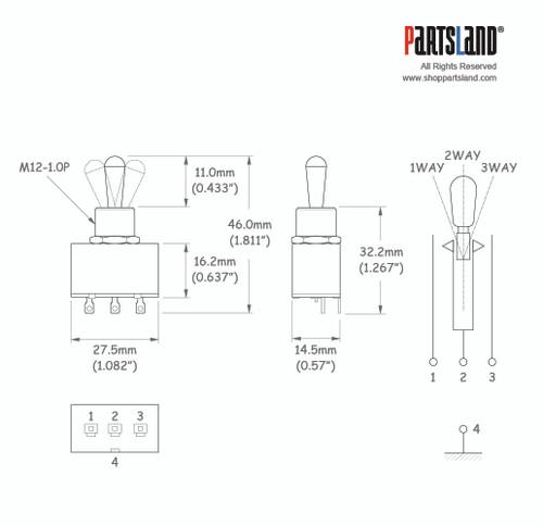 Box type Toggle Switch / Metal Knob