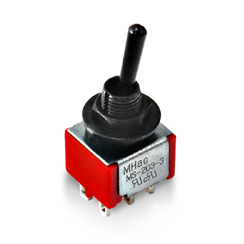 Deluxe Mini Toggle Switch / DP3T / ON-ON-ON