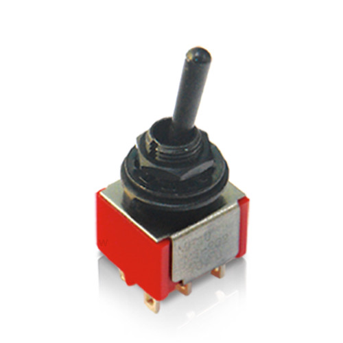 Deluxe Mini Toggle Switch / DPDT / ON-ON