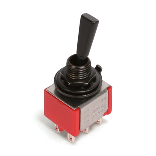 "Deluxe Toggle Switch / DPDT ON-ON / 1/4""-40 thread"