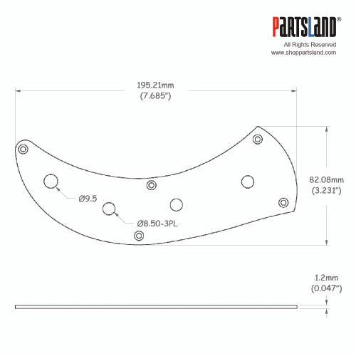 Precision Bass style Control Plate