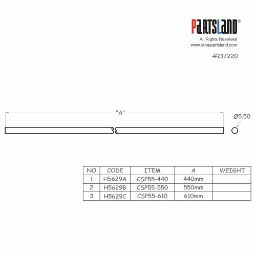 Carbon Fiber Neck Rods / 5dia
