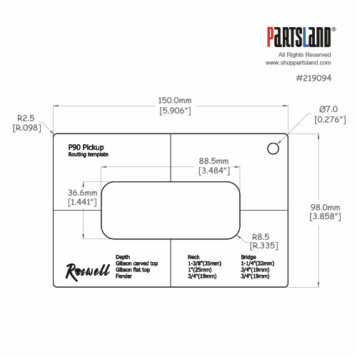 Pickup Routing Template - P90