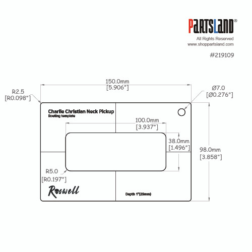 Pickup Routing Template - Charlie Christian
