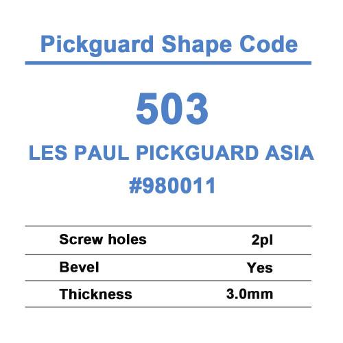 Les Paul Pickguard Asia