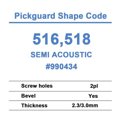 Semi Acoustic Pickguard
