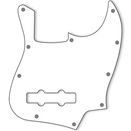 Jazz Bass Pickguard-1ply
