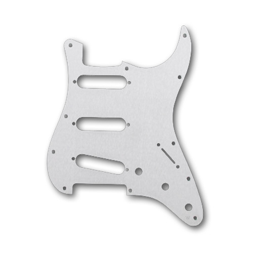 Aluminium Hairline / SSS AM' Strat 11 screws