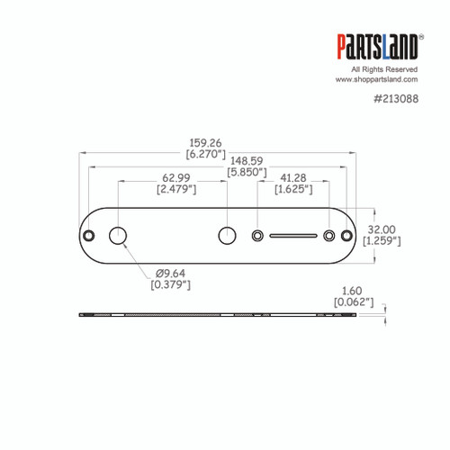 Telecaster®Control Plate / 1.6t