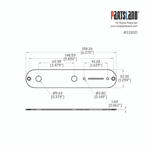 Telecaster®Control Plate / US 1.6t