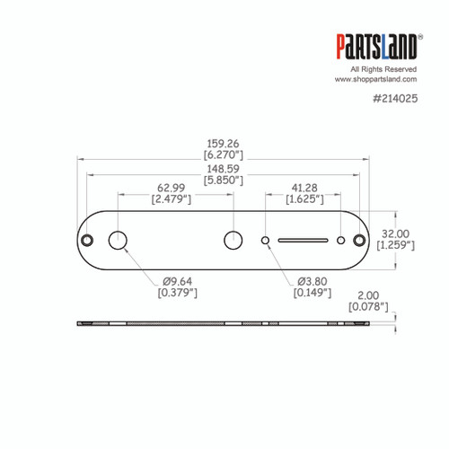 Telecaster®Control Plate / US 2.0t