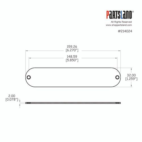 Telecaster®Control Plate / No-Hole